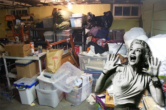 A Bay Area basement in need of junk removal