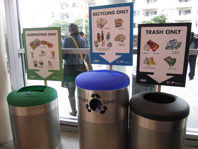 recycling and composting at work