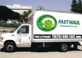 Our Junk hauling truck in Lafayette