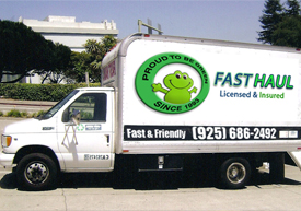 Our Junk hauling truck in Pleasanton