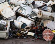 Scrap metal recycling yard